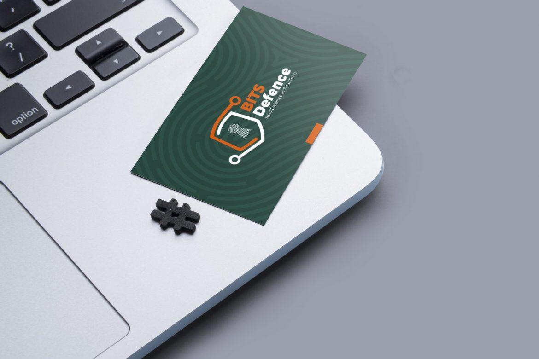 BITS Defence Card Mockup on MacBook