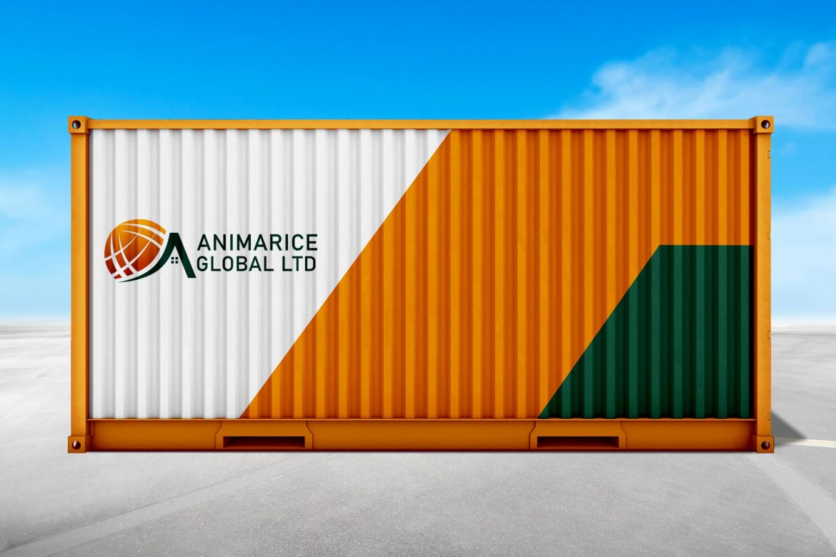 Stack of containers box, Cargo freight ship for import export bu