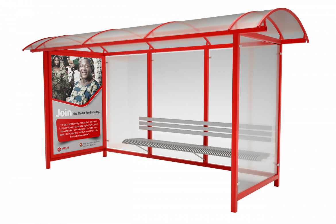 Mock-up bus stop